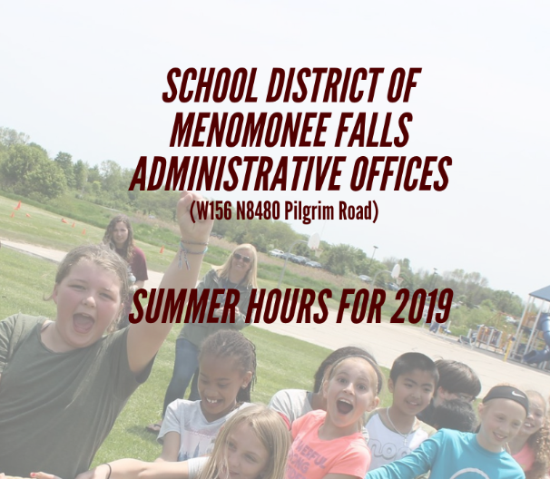 Summer Hours for SDMF Administrative Office